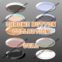 10 Oval Chrome Buttons