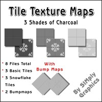 Tile Texture Maps - 3 Shades Of Charcoal
