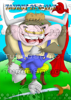 horoscope cartoon character  - taurus