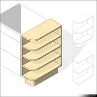 Kitchen Floor Unit Shelf 00425se