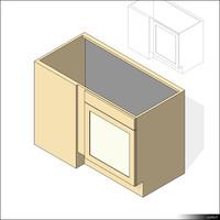 Kitchen Floor Unit Corner 00431se