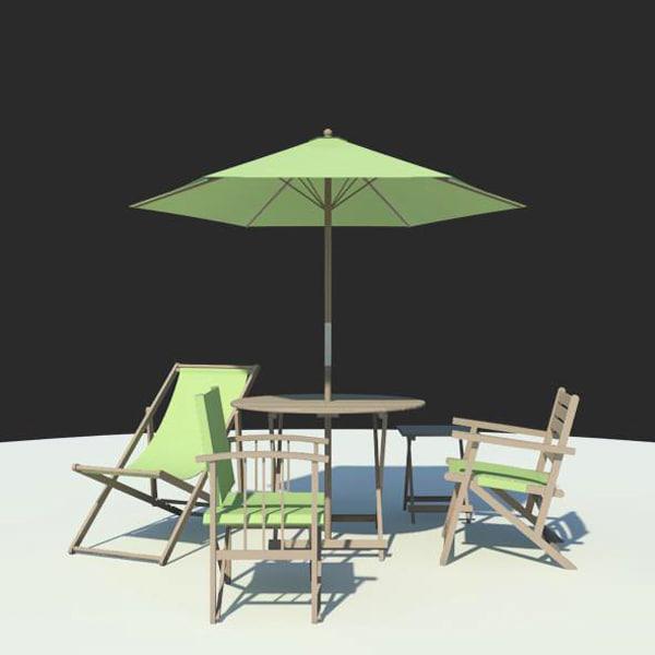Building rfa outdoor furniture summer for Outdoor furniture revit