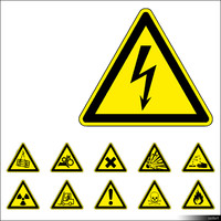 2D Symbol Warning Signs 00924se