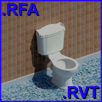 revit plumbing fixtures closet 3d model