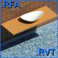 revit plumbing fixtures sink 09 2D&3D