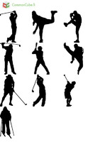 Sport figure silhouettes