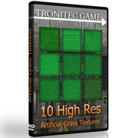 10 High Res Artificial Grass Textures