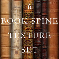 6 Book Spine Set