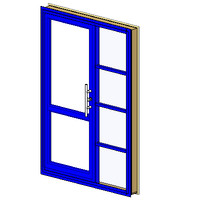 Ext Single-In Aluminum-2Lite 1x4SideLite-Architrave (NZ)