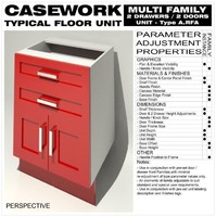 Floor Unit (2 Drawers - 2 Doors - Type A)