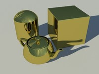 Gold Plate  - Mental Ray material