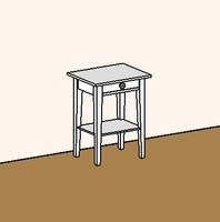 Nightstand - Ikea - Hemnes