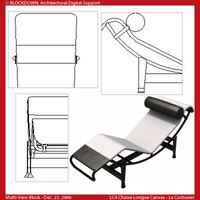 LC4 Chaise Longue Canvas Multi-View Block