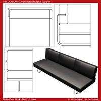 LC5.F Sofa Bed Multi-View Block