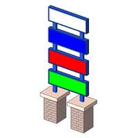 Sign - 4 Tier Columns