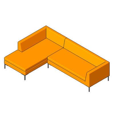 Building rfa bernard sectional sofa for Sectional sofa revit
