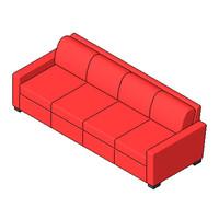 Sofa - Portola - Sofa 102 Inch Threeseater