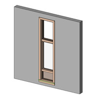 Window, SGL, CM with Fixed Top & Wall Panel at Bottom