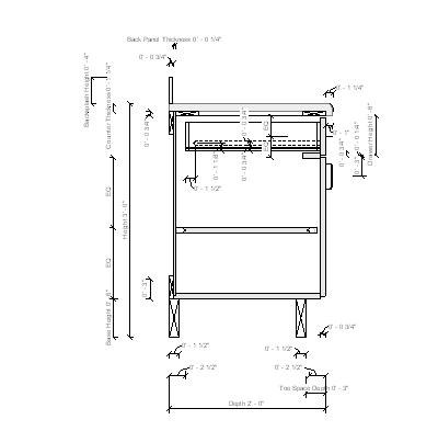 Drawer detail dwg driverlayer search engine for Kitchen cabinet section