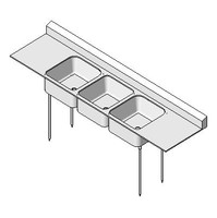 gx_PLBG Sink Kitchen Triple