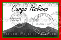 Vintage Luggage Stickers - Italy
