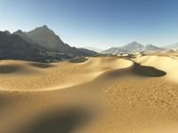 Spherical Texture map of a desert scene