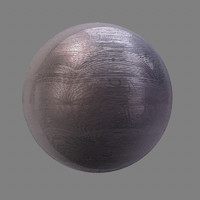 brushed steel metal maya material