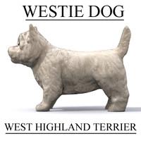 westie west dog 3d fbx