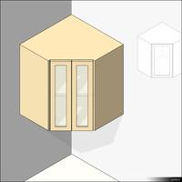 Kitchen Unit Wall Mount Corner 00423se