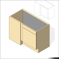 Kitchen Floor Unit Corner 00429se
