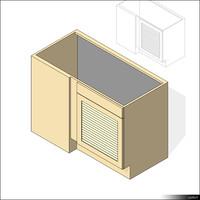 Kitchen Floor Unit Corner 00436se