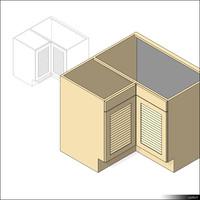 Kitchen Floor Unit Corner 00453se
