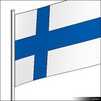Flag-Finland-Pole-00565se