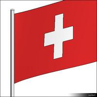 Flag-Swizerland-Pole-00568se