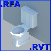 3ds revit plumbing fixtures closet