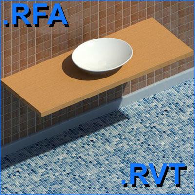revit plumbing fixtures sink 06 2D&3D