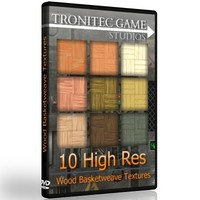 10 High Res Wood Basketweave Textures