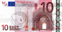 10 ten euro banknote high resolution texture