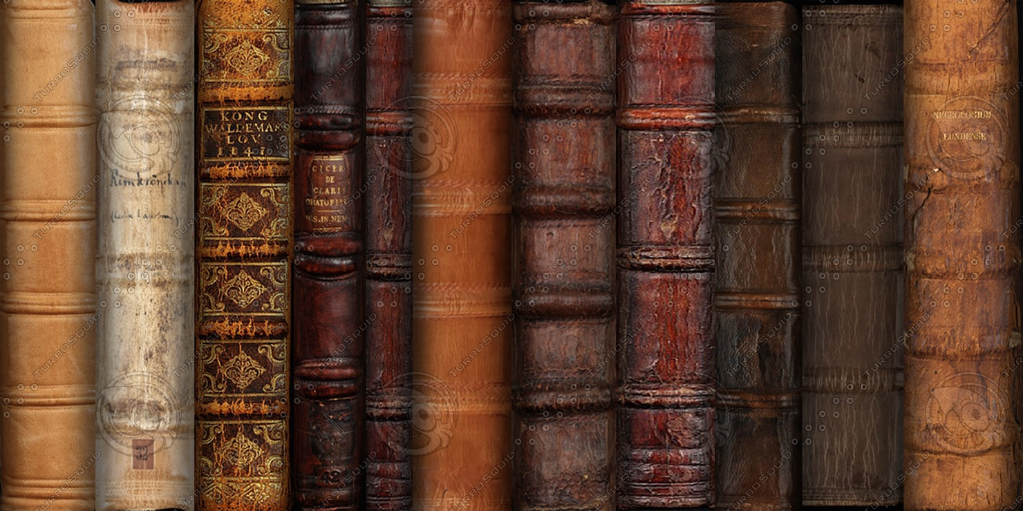 Texture png book spines leather