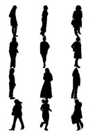 Woman figure silhouettes