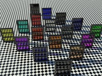 Glass Tinted Package - Library - Mental Ray - 3ds max2010