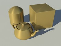 brass - gold - Mental Ray material