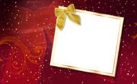Christmas Card Gold