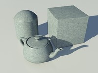 Galvanized Metal One - Mental Ray Material
