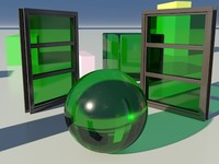 Glass Tinted See-Thru Green 1_01- Mental Ray material