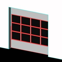 Overhead Door-10 ft-Alum/Glass-Detailed Section