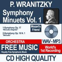 P. WRANITZKY - Symphony Minuets Vol. 1