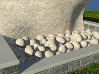 Rock_Light_1 -  PROCEDURAL rock or stone material - 3ds max2010 Mental Ray shader