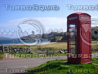 Phone Booth on Scottish Beach