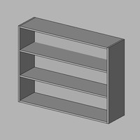 WI 300 4ft6 height 2 shelves